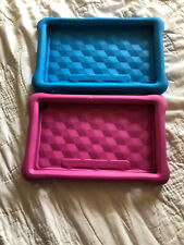 "Lot Of 2 EUC Amazon 7"" FreeTime Kid-Proof Cases, Blue & Pink!"