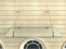 Glasvordach 200x90 cm Vordach Haustür Türvordach Türdach Klarglas VSG