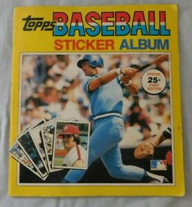 1981 Topps Baseball Sticker book  with Stickers