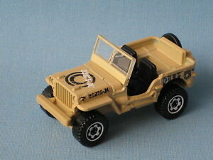 Matchbox Jeep Willys Army 4x4 Military Desert Camo Toy Model Car 8th Army