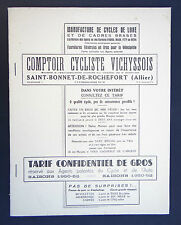Ancien catalogue Comptoir cycliste Vichyssois / Michelin cycle vélo tandem