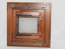 K. B. Canham standard wood 8x10 to 4x5 in. reducing back with lined ground glass