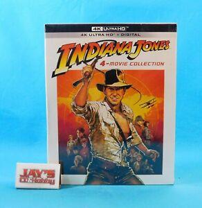 Indiana Jones 4-Movie Collection 4K Ultra HD + Digital 2021 Lucasfilm Sealed