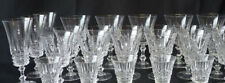 Service en Cristal taillé Verres à eau, vin, digestif et flûtes à champagne 28p.