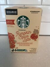 Starbucks Pumpkin Spice Caffe Latte Specialty Coffee K-Cups 6 Boxes 6 Count