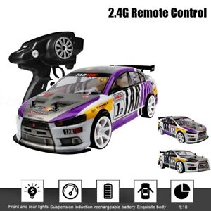 1:10 70km/h 2.4g Rc Car 4wd Double Battery High Power Led Headlight Racing Car