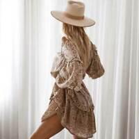 XL New Boho Block Print Tunic Top Blouse Mini Festival Dress Womens Size X-LARGE