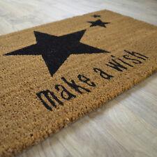Paillasson Étoiles Make a wish - En fibre naturelle de coco. Format 45 x 75 cm