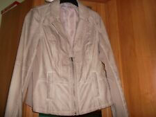 MS Mode Damen Lederimitat Jacke Gr. 44  Farbe: Hell-Beige mit Grau   ,,Neu´´