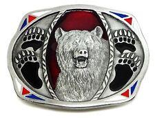 Ours boucle de ceinture american western thème paw claw authentique c & j buckles produit