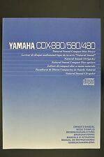YAMAHA cdx-880 cdx-580/480 ORIGINAL Reproductor de CD INSTRUCCIONES DE EMPLEO /