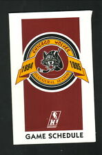 Chicago Wolves--1994-95 Pocket Schedule--Pace