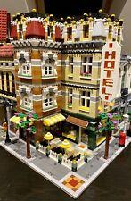 LEGO CUSTOM MODULAR LARGE CORNER BUILDING HOTEL CAFE fits with 10185 MOC 456