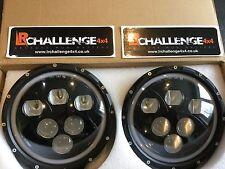 """Classic Mini 7"""" LED Luces De Cabeza Con Halo Anillo Brillante Plug and Play de actualización"""