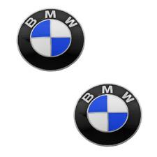 2 Emblem - Wheel Center Caps ( 70 mm Diameter ) For: BMW E36 E30 E34 E39 E60 X5