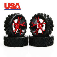 USA 4pc Flat Drift Slicks Tires&12mm Hex Wheel For HSP 1:10 RC  Road Racing Car