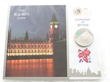 2009 London 2012 OLIMPIADI Big Ben £ 5 cinque Pound Prova MEDAGLIA Pack