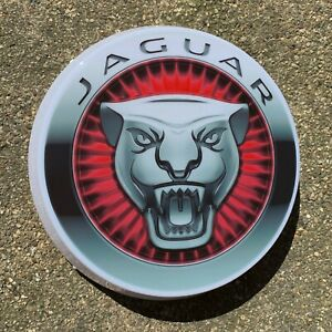 JAGUAR LED ILLUMINATED LIGHT BOX GARAGE SIGN AUTOMOBILIA GAS & OIL GROWLER XJS