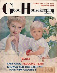 1956 Good Housekeeping August - Maidenfrom bra; Prince Charles; Margaret Cousins