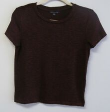 American Eagle Outfitters Womans burgundy pullover short sleeve top, P Small