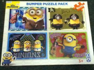 **Minions Movie Bumper 4 x 35 piece Jigsaw Puzzle Pack**