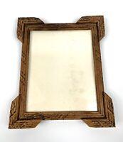 """Antique Eastlake Picture Frame Holds Photo For 8.25""""x 10"""" Carved Wood Vtg Old"""