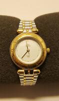 Watch Timex Silver Gold Tone Indiglo Quartz New Battery Bracelet Band Womens