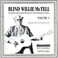 RARE Complete Recorded Works, Vol. 1 (1927-1931) by Blind Willie McTell CD, 1992