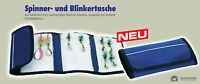 SPINNER- UND BLINKERTASCHE VON BEHR, BLAU, MAßE 46x22CM, RIP-STOP MATERIAL, NEU