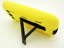 For Samsung Galaxy S III 3 Impact Hard Rubber Case Cover Kick Stand Yellow Black