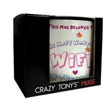 Crazy TONY'S personalizzata Splendida Moglie TAZZA COMPLEANNO, compleanni, adulto, regali