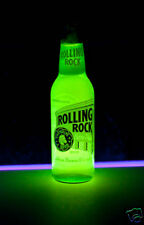 Rolling Rock GLOWING Blacklight Bottle - add poster sign - Fluorescent Neon Glow