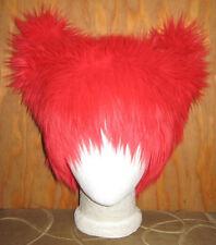 RED FOX EAR KITTY CAT FUR HAT MEME CYBER FESTIVAL ANIME EDC EDM FESTIVAL BURNER