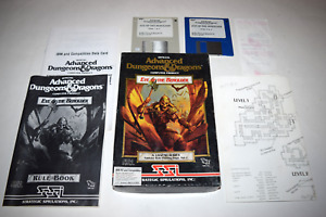 """Eye of the Beholder AD&D Vol 1 1990 PC 3.5"""" Discs Video Game Complete in Box"""