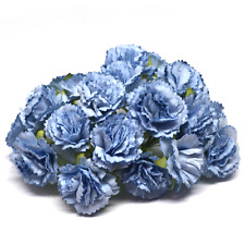 Pale Blue Mulberry Paper Carnations Card Making Craft Embellishment Flower Pc011