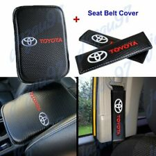 New Carbon Fiber Car Center Armrest Cushion Mat Pad Cover For Toyota Combo Set Fits 1985 Supra