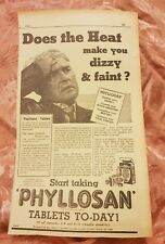 Phyllosan Tablets 1941 Advertisement