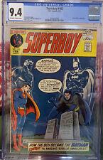 Superboy 182 CGC 9.4 (1972) 1st: Super Sons Batman Superman OW/W Robin