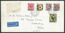 Rhodesia 1976 provisonals & new values on 2 registered FDC to UK
