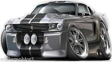 Decal Sticker Wall Graphic XL 4ft Long 1967 Ford Mustang Shelby GT500 KR 427