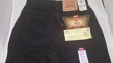 Levi's 551 Women's Black Jeans Size 6 Petite Tapered Leg 27W, 28L Made in USA