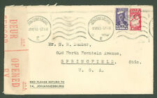Star D99 South Africa 1943 Cover Censored Machine cancel