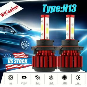4-Side H13 9008 260W 32000LM LED Headlight bulb Kit Lamp Bulb Hi/Lo 6000K+Canbus