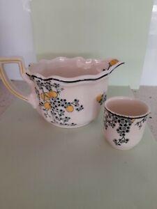 Royal Doulton Art Deco Carnival Large Milk/Cream/Gravy Jug & Eggcup