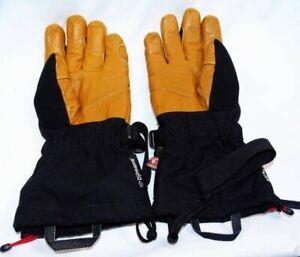 Unisex Adult Mountain Hardwear Black/Tan Exposure/2 Gore-Tex Gloves Worn 1 Day!