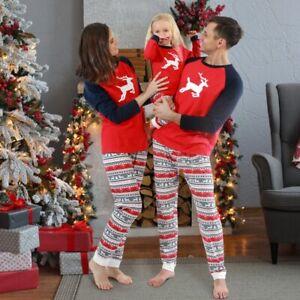 Christmas Family Matching Xmas Parent Child Adult Kids Pyjamas Nightwear PJs Set