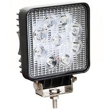 Faro faretto luce quadrato 9 LED auto car jeep fuoristrada supplementare F9L