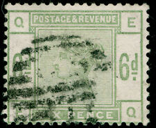 Sg194, 6d dull green, good used. Cat £230. EQ