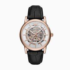 Emporio Armani Men's Automatic Black Leather Watch AR60007