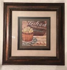 "Cupcake Wall Art Picture With Matting And Frame. New. ""Baked From Scratch"""